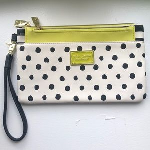 Betsey Johnson wristlet with extra pouch NWOT